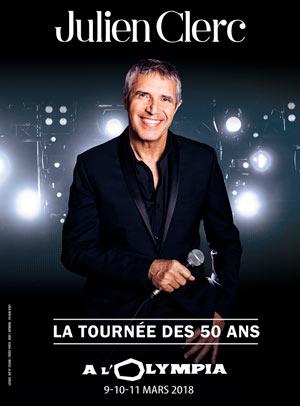 JULIEN CLERC L'Olympia concert de chanson française
