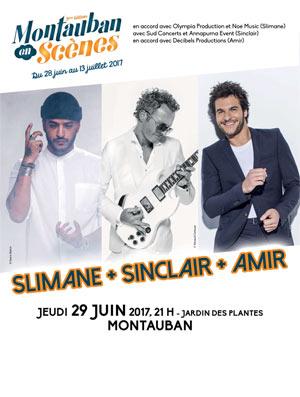SLIMANE - SINCLAIR - AMIR JARDIN DES PLANTES concert de musique d'Europe