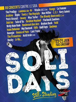 SOLIDAYS 2017 - PASS 3 JOURS HIPPODROME DE LONGCHAMP concert de variété internationale