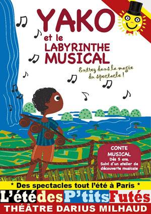 YAKO ET LE LABYRINTHE MUSICAL Théâtre Darius Milhaud spectacle pour enfant
