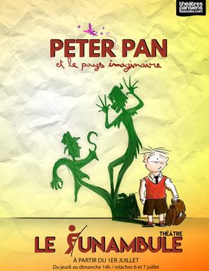 PETER PAN ET LE PAYS IMAGINAIRE LE FUNAMBULE-MONTMARTRE pièce de théâtre pour enfant