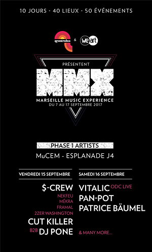 Plus d'infos sur l'évènement MMX FESTIVAL # 1 - VENDREDI
