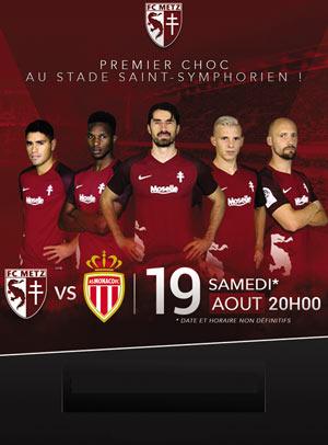 FC METZ / AS MONACO STADE ST SYMPHORIEN rencontre, compétition de foot