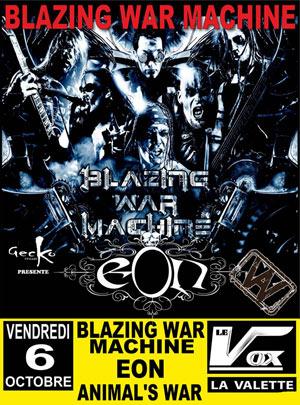 Plus d'infos sur l'évènement BLAZING WAR MACHINE