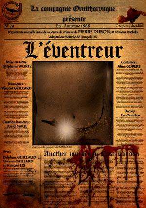 L'EVENTREUR Théâtre Essaion de Paris pièce de théâtre musical