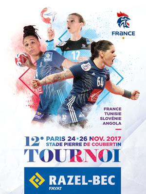 12EME TOURNOI RAZEL-BEC STADE PIERRE DE COUBERTIN rencontre, compétition de handball