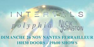 Plus d'infos sur l'évènement INTERVALS +POLYPHIA +NICK JOHNSTON