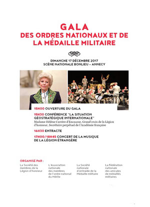GALA DES ORDRES NATIONAUX THEATRE BONLIEU SCENE NATIONALE concert de musique d'Europe