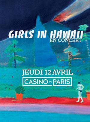 GIRLS IN HAWAII Casino de Paris concert de rock