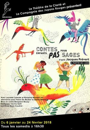 CONTES POUR ENFANTS PAS SAGES Théâtre de La Clarté spectacle pour enfant