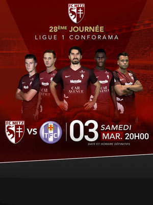 FC METZ / TOULOUSE FC STADE SAINT-SYMPHORIEN rencontre, compétition de foot