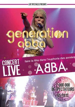 GENERATION ABBA Théâtre de La Clarté concert de variété internationale
