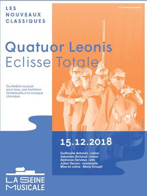 QUATUOR LEONIS - ECLISSE TOTALE La Seine Musicale concert de musique classique