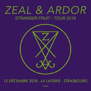 ZEAL AND ARDOR LA LAITERIE concert de hard-rock métal