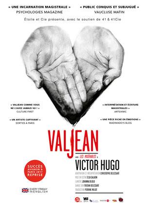 VALJEAN Théâtre Essaion de Paris pièce de théâtre contemporain