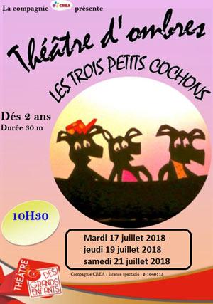 LES TROIS PETITS COCHONS THEATRE DES GRANDS ENFANTS marionnettes