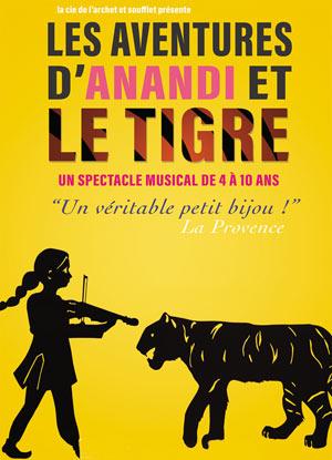 LES AVENTURES D'ANANDI ET LE TIGRE Théâtre Essaion de Paris pièce de théâtre pour enfant