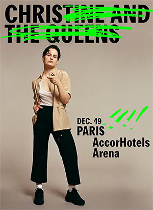 CHRISTINE AND THE QUEENS Accorhotels Arena concert de chanson française