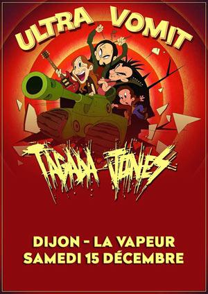 ULTRA VOMIT + TAGADA JONES La Vapeur concert de hard-rock métal