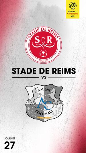 STADE DE REIMS / AMIENS SC STADE AUGUSTE DELAUNE rencontre, compétition de foot