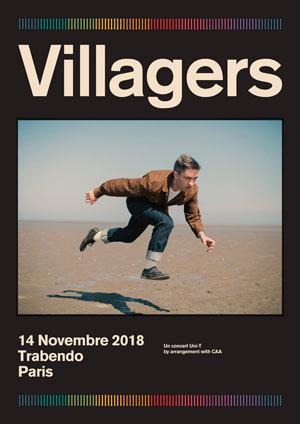 VILLAGERS LE TRABENDO (PARC DE LA VILLETTE) concert de rock