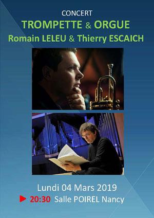 R.LELEU TROMPETTE & T.ESCAICH ORGUE Salle Poirel concert de musique classique