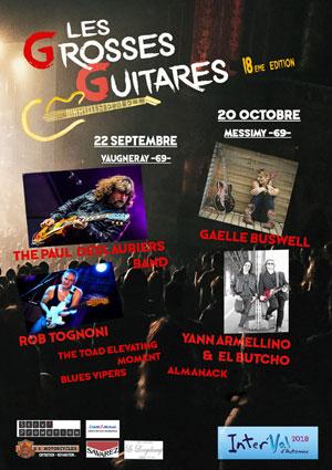 LES GROSSES GUITARES - PASS 2 JOURS ESPACE DES VALLONS DU LYONNAIS concert de rock