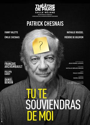 TU TE SOUVIENDRAS DE MOI Théâtre de Paris pièce de théâtre contemporain