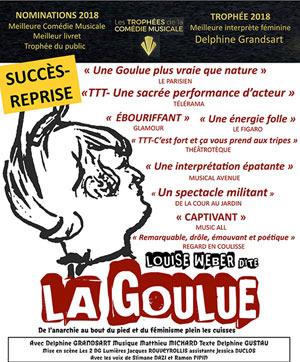 LOUISE WEBER DITE LA GOULUE Théâtre Essaion de Paris pièce de théâtre musical