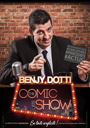 BENJY DOTTI - THE COMIC LATE SHOW OMEGA LIVE one man/woman show