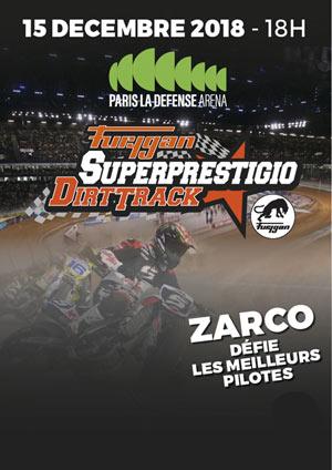 FURYGAN SUPERPRESTIGIO DIRT TRACK PARIS LA DEFENSE ARENA rencontre, compétition de sports mécaniques