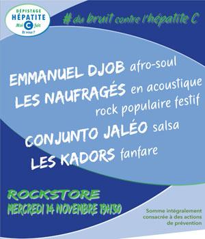 DU BRUIT CONTRE L'HEPATITE C Le rockstore concert de rock