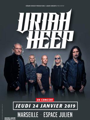 URIAH HEEP ESPACE JULIEN concert de rock
