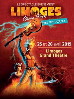LIMOGES OPERA ROCK GRAND THEATRE comédie musicale