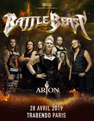 BATTLE BEAST LE TRABENDO (PARC DE LA VILLETTE) concert de hard-rock métal