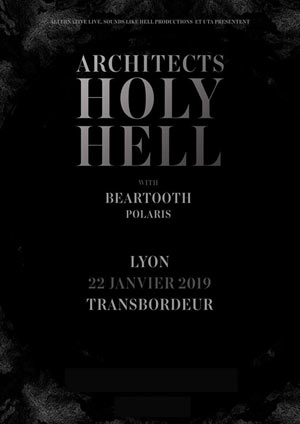 ARCHITECTS Le Transbordeur concert de hard-rock métal