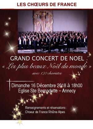 LES CHOEURS DE FRANCE EGLISE SAINTE BERNADETTE récital, chant classique