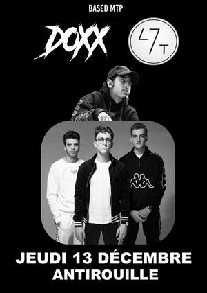 47 TER + DOXX L'ANTIROUILLE concert de rap hip-hop