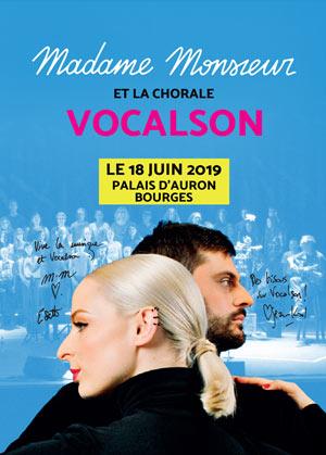 MADAME MONSIEUR LE PALAIS D'AURON concert de chanson française