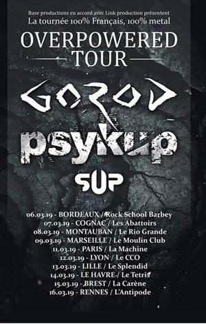 Plus d'infos sur l'évènement GOROD + PSYKUP + SUP