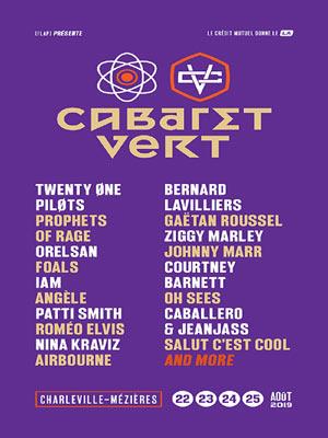 FESTIVAL CABARET VERT - PASS 1 JOUR STADE BAYARD concert de rock