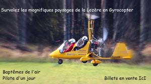 PILOTE D'UN JOUR EN ULM AUTOGIRE AERODROME DE MENDE-BRENOUX activité, loisir