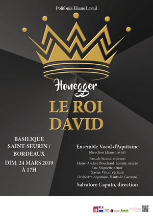 LE ROI DAVID - ARTHUR HONEGGER BASILIQUE SAINT ANDRE concert de musique classique