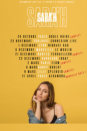 SARA'H + INVITE LE HUBLOT concert de rock