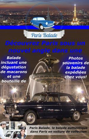 BALADE VIP EN PEUGEOT 404 PLACE DE L'HOTEL DE VILLE visite guidée