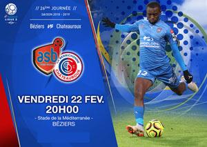 AS BEZIERS / CHATEAUROUX Stade de la Méditerranée rencontre, compétition de foot