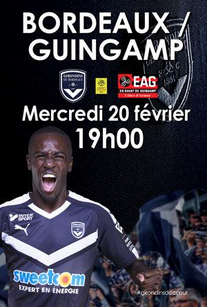 GIRONDINS DE BORDEAUX / EA GUINGAMP MATMUT ATLANTIQUE rencontre, compétition de foot