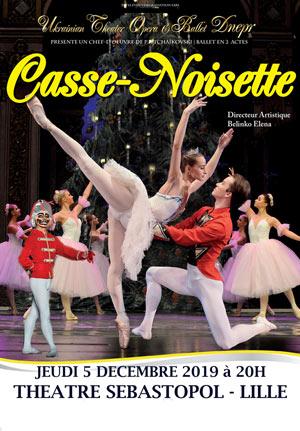 CASSE-NOISETTE Théâtre Sébastopol spectacle de danse classique