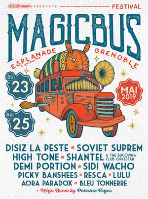 FESTIVAL MAGIC BUS 2019 - PASS 2J L'ESPLANADE concert d'électro