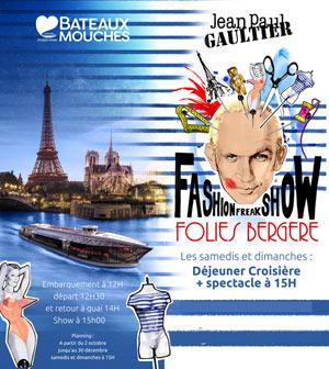 BATEAUX BY JEAN-PAUL GAULTIER COMPAGNIE DES BATEAUX MOUCHES événement